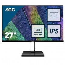 """Monitor AOC 27V2Q, 27"""",IPS, bezrámečkový, 75 Hz, černý"""
