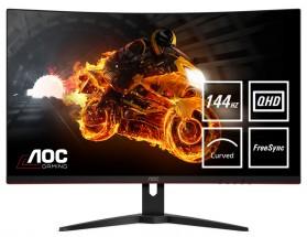 """Monitor AOC 32"""" QHD, LED, 144 Hz, 1 ms. CQ32G1 + ZDARMA USB-C Hub Olpran v hodnotě 1599 Kč"""