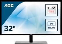"Monitor AOC 32"" QHD, LED, 75 Hz, 5 ms, Q3279VWFD8"