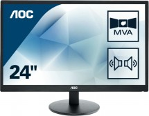 Monitor AOC M2470SWDA2, 23,6'', FullHD, LED, VGA, DVI, černá