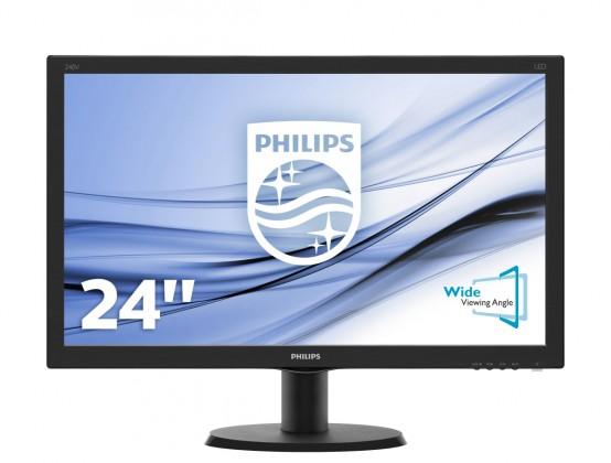 "Monitor Philips 24"" Full HD, LED, 5ms, 240V5QDAB"
