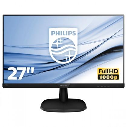 """Monitor Philips 27"""" Full HD, LCD, LED, IPS, 5 ms, 60 Hz, 273V7QJA"""