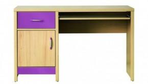 Monza - pracovní stůl, CD 11 (višeň cornvall, fialová)