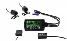 Motokamera CEL-TEC MK01 FullHD s GPS, WIFI, držák + zadní kamera