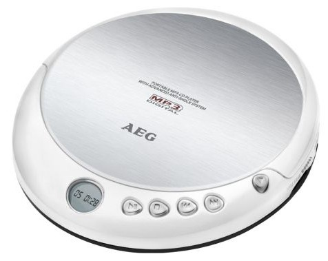 MP3, MP4 přehrávače,discmany AEG CDP 4226 WH, bílá