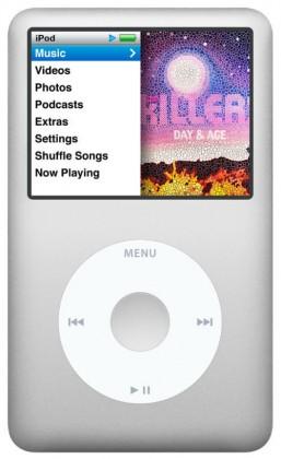 MP3, MP4 přehrávače,discmany Apple iPod classic 160GB - Silver (MC293HC/A)