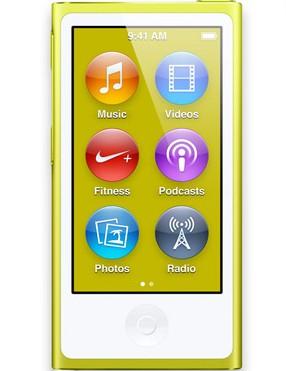 MP3, MP4 přehrávače,discmany Apple iPod nano 16GB - Yellow (MD476HC/A)