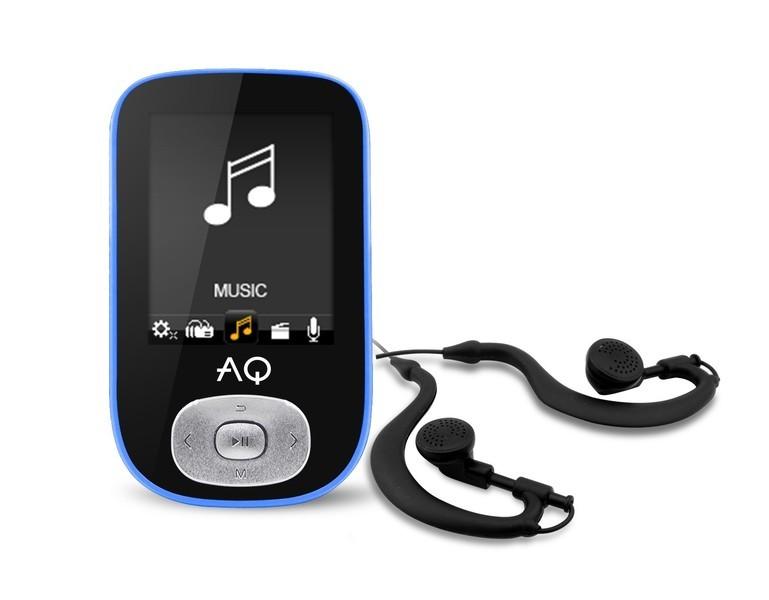 MP3, MP4 přehrávače,discmany AQ MP03 modrá