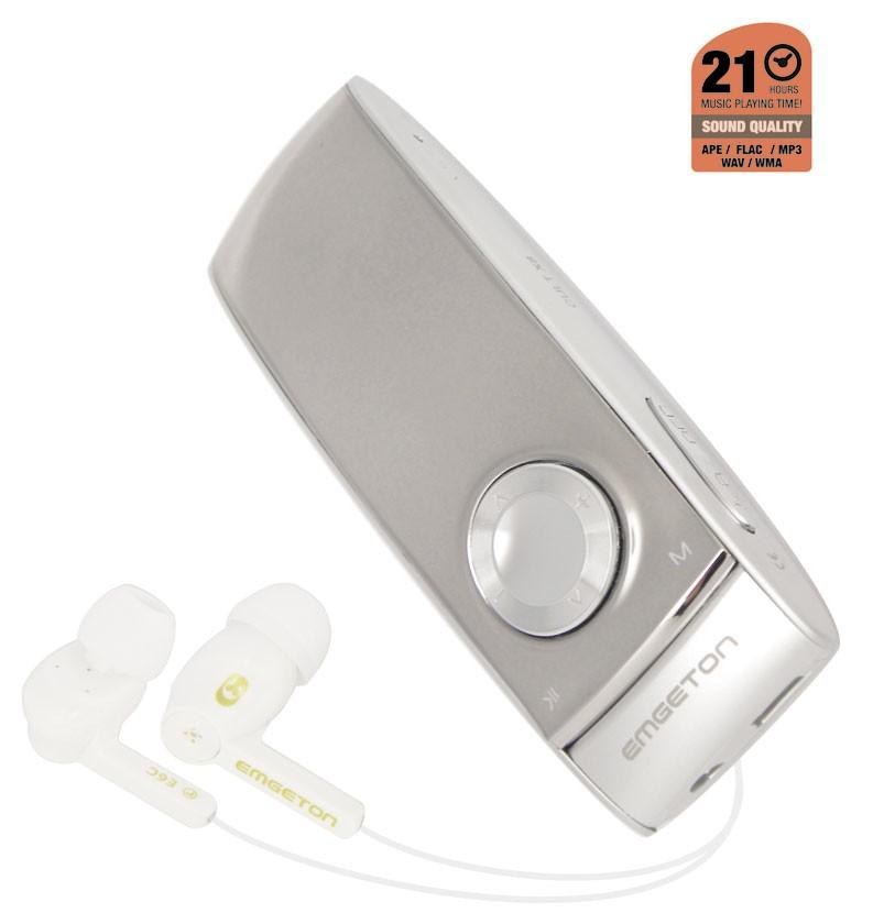 MP3, MP4 přehrávače,discmany Emgeton CULT X8 8GB Silver/Anthracit, bez FM, OLED+microSD