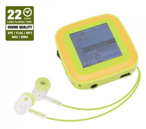 MP3, MP4 přehrávače,discmany Emgeton CULT X9 4GB Silver/green, 22h, 1.5TFT LCD display