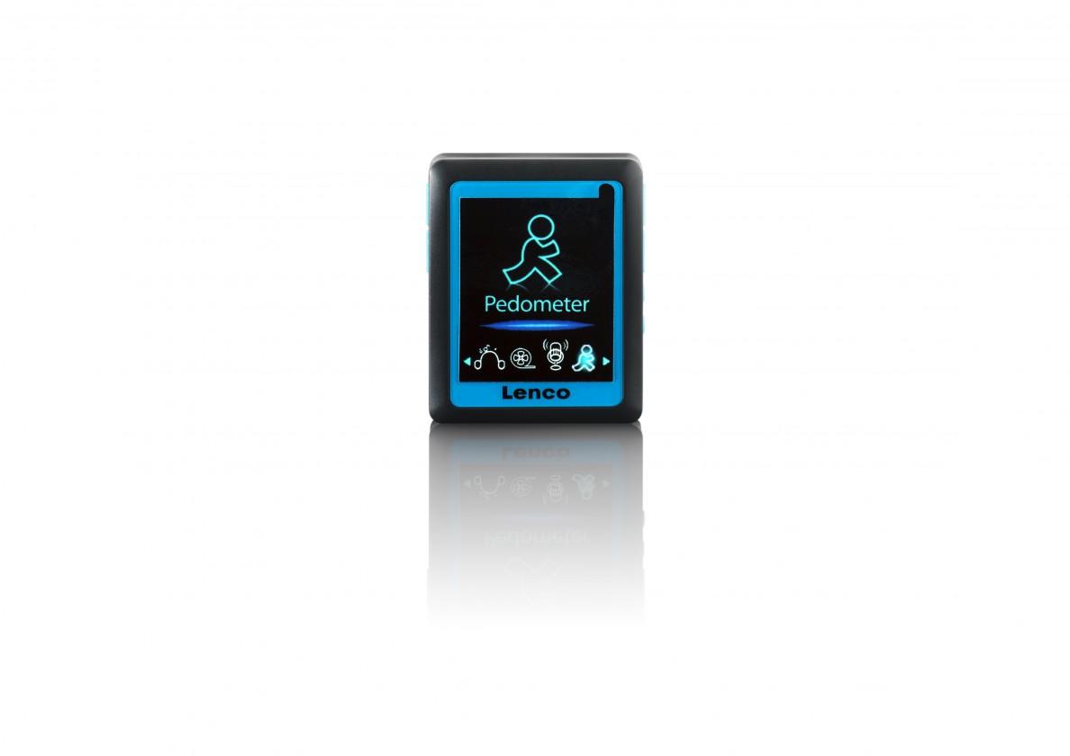 MP3, MP4 přehrávače,discmany Lenco Podo 152 4 GB, modrá