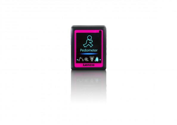 MP3, MP4 přehrávače,discmany Lenco Podo 152 4 GB, růžová