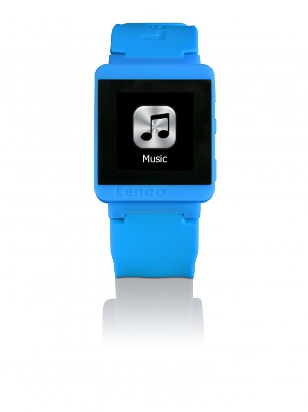 MP3, MP4 přehrávače,discmany Lenco SportWatch-100 modrý