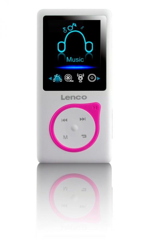 MP3, MP4 přehrávače,discmany Lenco Xemio-657, růžový