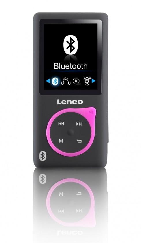 MP3, MP4 přehrávače,discmany Lenco Xemio 767 8 GB, růžová