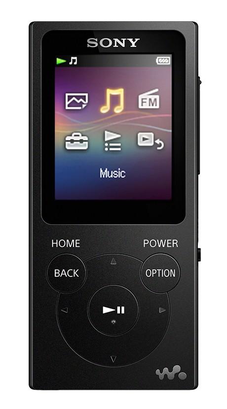 MP3, MP4 přehrávače,discmany MP3 přehrávač Sony NW-E394 8 GB, černý