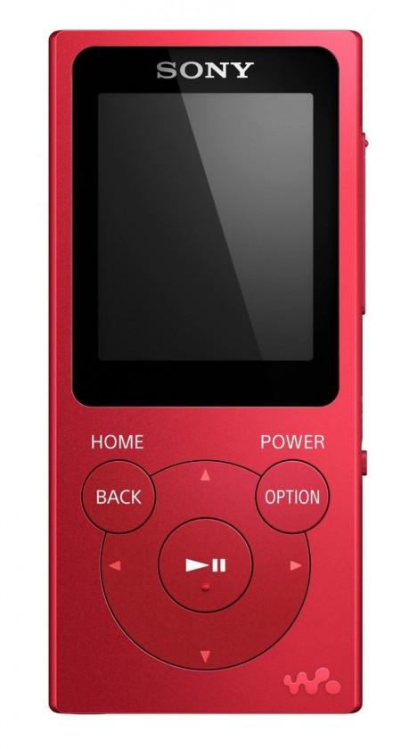 MP3, MP4 přehrávače,discmany MP3 přehrávač Sony NW-E394 8 GB, červený