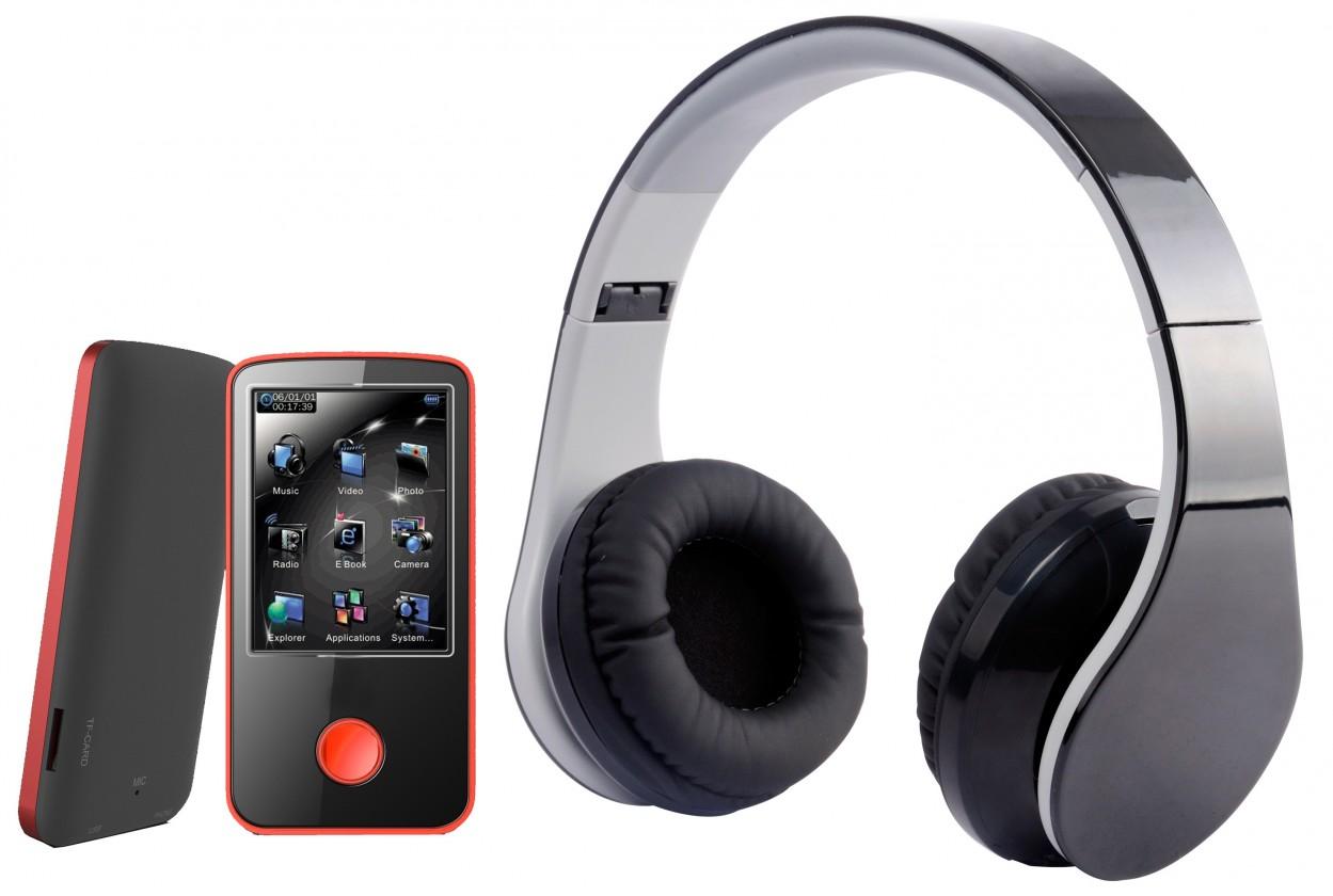 MP3, MP4 přehrávače,discmany MPman BT 24 4GB + bezdrôtové slúchadlá (BT 24 4GB PAK)