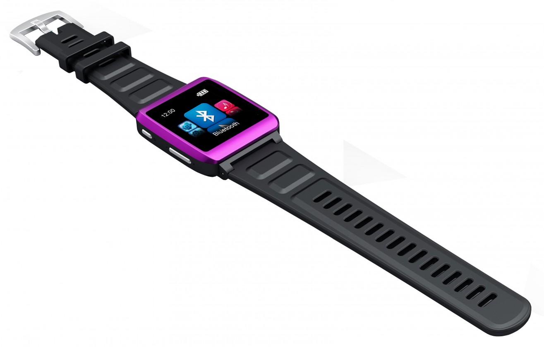 MP3, MP4 přehrávače,discmany MPman Watch Me 4GB fialový