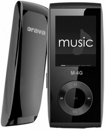 MP3, MP4 přehrávače,discmany Orava M-4G 4 GB, černá