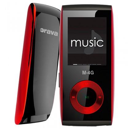 MP3, MP4 přehrávače,discmany Orava M-4G 4 GB, červená