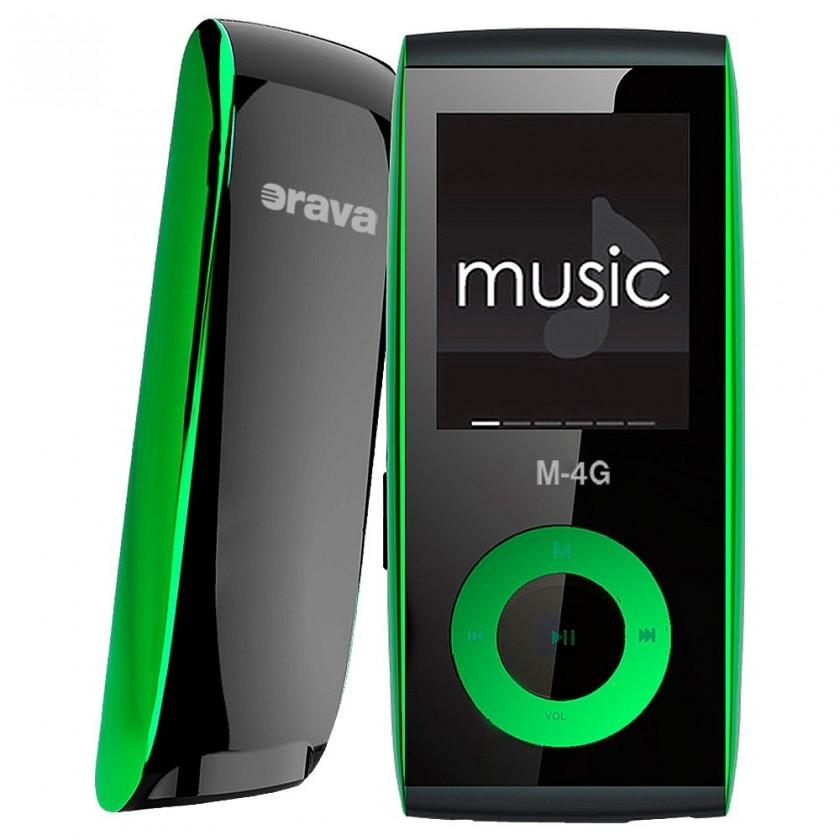 MP3, MP4 přehrávače,discmany Orava M-4G 4 GB, zelená