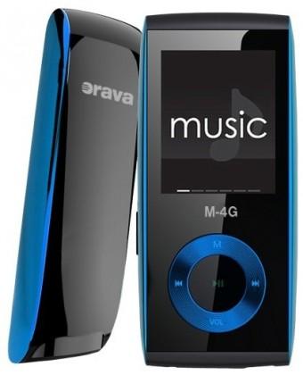 MP3, MP4 přehrávače,discmany Orava M-8G 8 GB, modrá