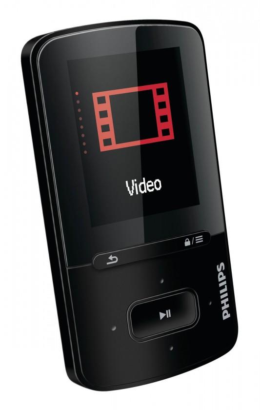 MP3, MP4 přehrávače,discmany Philips VIBE 4 GB, černá