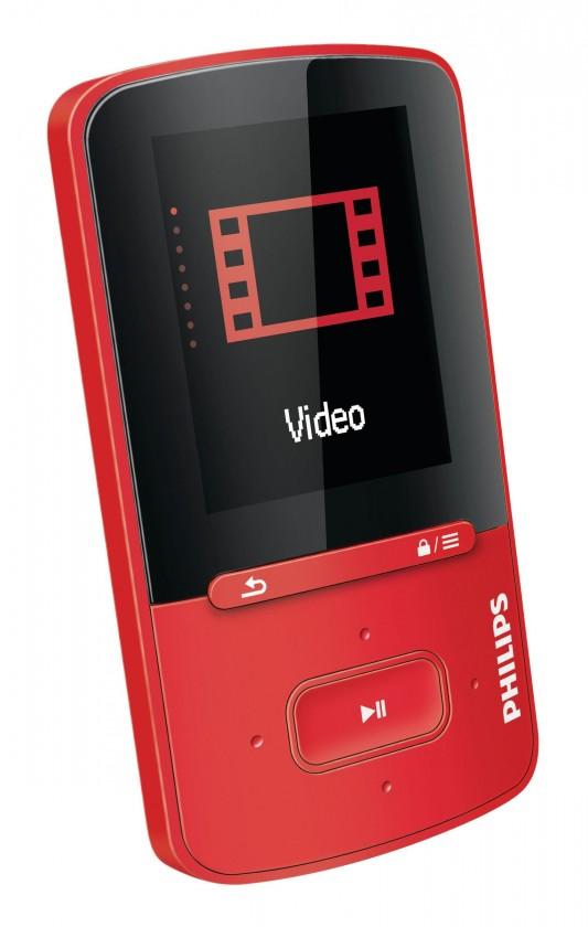 MP3, MP4 přehrávače,discmany Philips VIBE 4 GB, červená