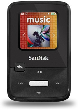MP3, MP4 přehrávače,discmany SANDISK Sansa Clip 8GB FM černý ROZBALENO