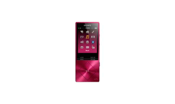 MP3, MP4 přehrávače,discmany Sony NW-A25HNP / 16GB, růžová