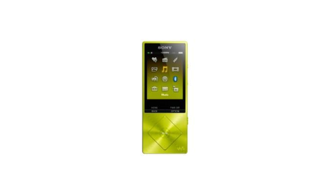 MP3, MP4 přehrávače,discmany Sony NW-A25HNY / 16GB, žlutá
