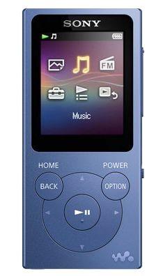 MP3, MP4 přehrávače,discmany Sony NW-E393L / 4GB, modrá