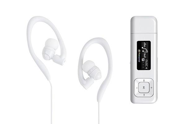 MP3, MP4 přehrávače,discmany Transcend MP330 8 GB, bílá
