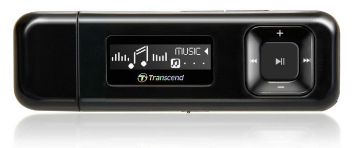 MP3, MP4 přehrávače,discmany Transcend MP330 8 GB, černá