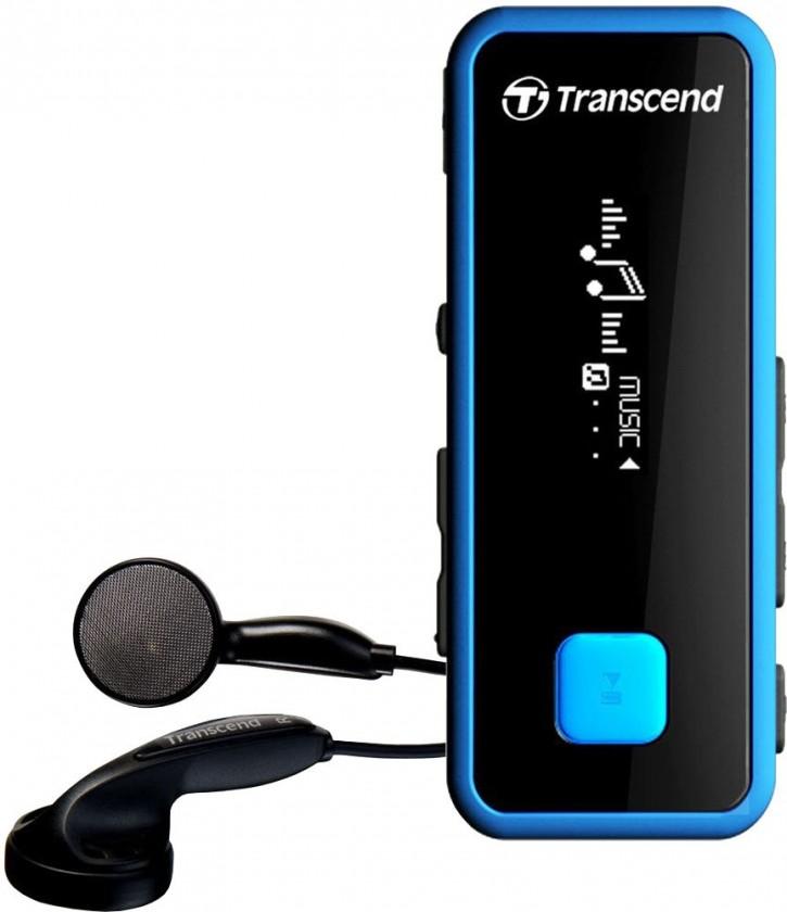 MP3, MP4 přehrávače,discmany Transcend MP350 8 GB, modrá