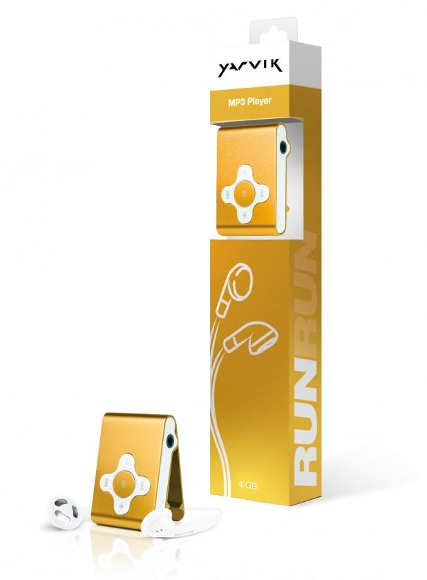 MP3, MP4 přehrávače,discmany Yarvik MP3 přehrávač RUN 4GB Gold