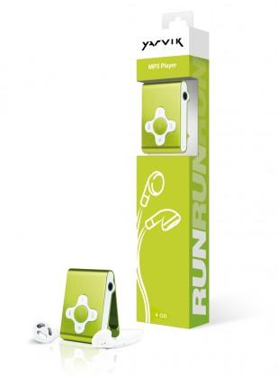 MP3, MP4 přehrávače,discmany Yarvik MP3 přehrávač RUN 4GB Green
