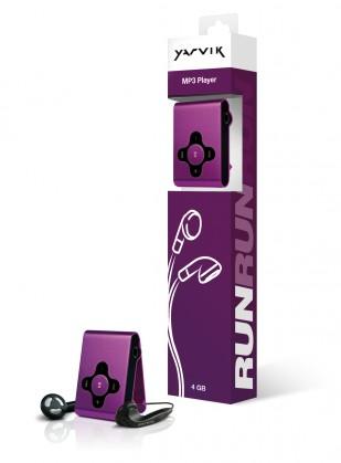 MP3, MP4 přehrávače,discmany Yarvik MP3 přehrávač RUN 4GB Purple