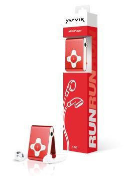 MP3, MP4 přehrávače,discmany Yarvik MP3 přehrávač RUN 4GB Red