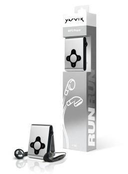 MP3, MP4 přehrávače,discmany Yarvik MP3 přehrávač RUN 4GB Silver