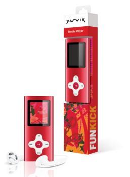 MP3, MP4 přehrávače,discmany Yarvik MP4 přehrávač FUNKICK 4GB Red