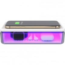 Multifunkční UV sterilizátor s bezdrátovou nabíječkou 15W, bílá