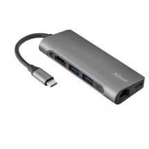 Multiportový adaptér Trust Dalyx 7 v 1, USB-C, HDMI port