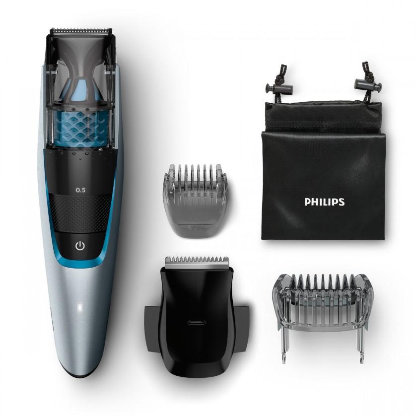 Na vousy Zastřihovač vousů Philips Series 7000 BT7210/15, vysávání