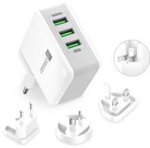 Nabíjecí adaptér Connect IT CWC-3310-WH, 3xUSB-A, 24W, bílý