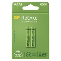 Nabíjecí baterie GP B2116 Recyko, 650mAh, AAA, 2ks