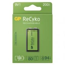 Nabíjecí baterie GP B2152 ReCyko, 200mAh, 9V, 1ks