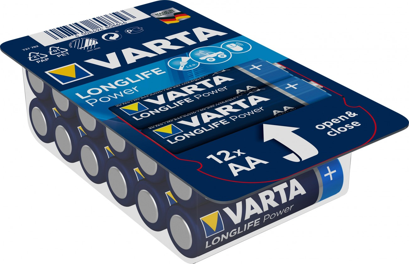 Nabíjecí baterie, nabíječky Alkalické baterie VARTA HIGH ENERGY AA 12ks