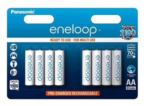 Nabíjecí baterie, nabíječky Baterie Panasonic Eneloop AA 8ks 3MCCE/8BE